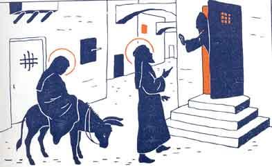 La vie de Jésus pour les petits - Marie et Joseph cherche un logement à Bethléem
