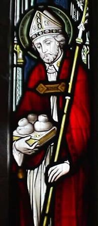 Saint Nicolas distribue de l'argent