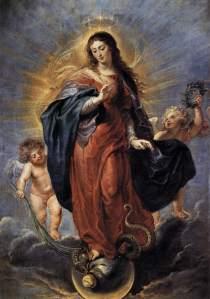 Légende de la Vierge - Immaculcée Conception
