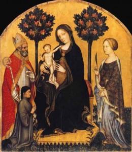 Littérature momes - Saint Nicolas, la Sainte Vierge et Sainte Catherine
