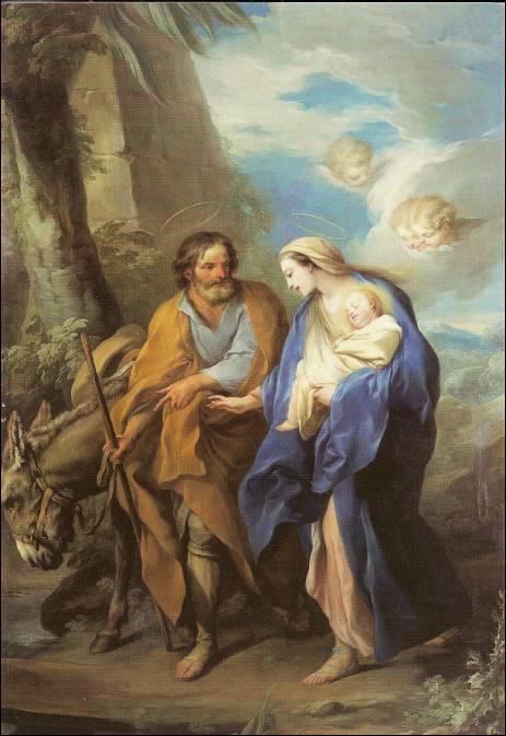 Histoire Sainte Famille - La fuite en Egypte - Carle Van Loo