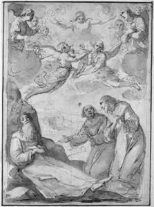 Légende pour les enfants - Mort de saint Antoine Abbé, par Sorri Pietro, vers 1602
