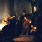 Littérature à télécharger, lire et raconter - Rembrandt van Rijn - Judas Rapportant 30 Deniers (1629)