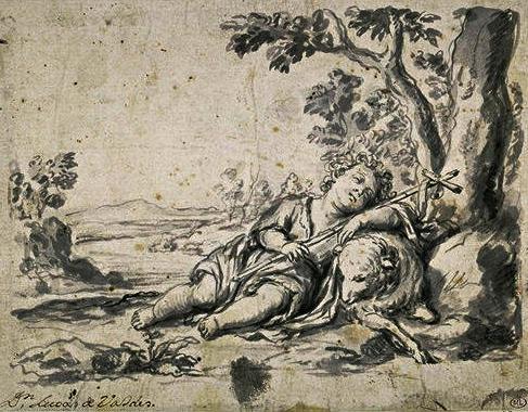 récit - Évangiles - Lucas de VALDES - Saint Jean-Baptiste enfant endormi