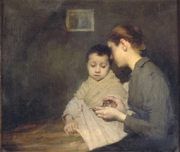 Récit pour les momes - Geoffroy Henri-Jules-Jean - Enfant malade et sa mère