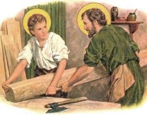 livre pour enfants - saint Joseph et Jesus artisans
