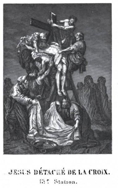 Méditation du Chemin de Croix pour les enfants - Jésus détaché de la Croix