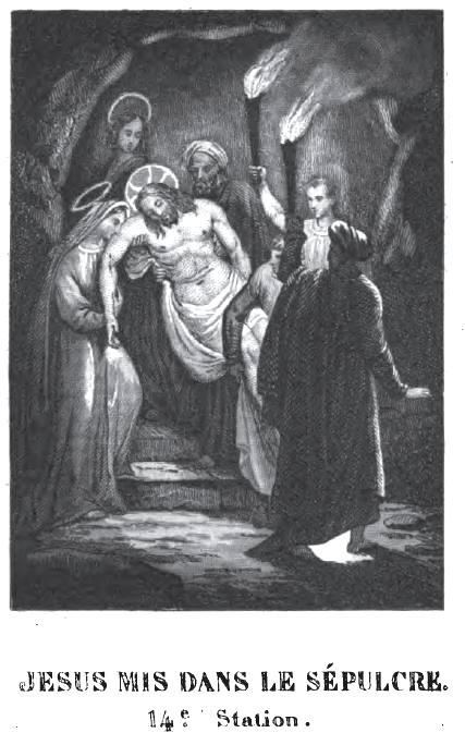 Chemin de Croix pour la jeunesse - Jésus mis dans le Sépulcre