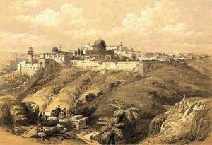 récit sur la Passion du Christ - vue de Jérusalem