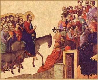 Récit sur l'Evangile - Jésus entre dans Jérusalem pour les Rameaux