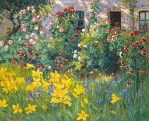 Histoire de la fête des mères - Guilbert Narcisse - Jardin au printemps