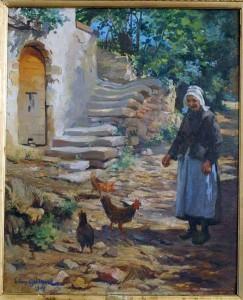 Histoire pour les momes à imprimer - Les oeufs de Pâques -Vieille femme et ses poules