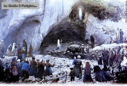 Histoire de Sainte Bernadette de Lourdes - grotte