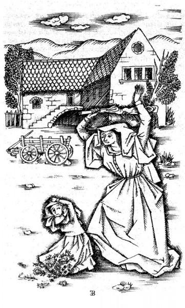Coloriage : Histoire de Sainte Germaine de Pibrac, enfant martyre