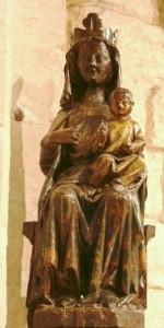 Catéchisme - Vierge à l'enfant en bois