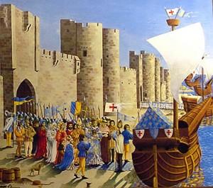 embarquement pour la croisade à Aigues-Mortes