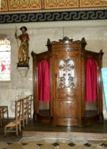 Sacrement de la réconciliation - Honfleur - Eglise St Leonard - Confessionnal