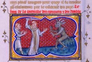 Combat d'un convert et du diable