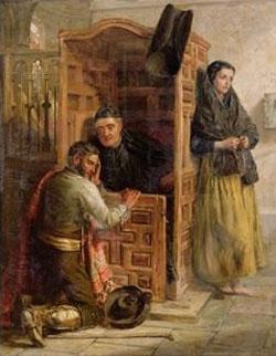 Sacrement de Pénitence - catéchisme - Reconciliation - Edwin Long, 1862