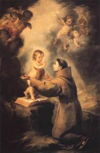 Bartolomé Esteban Murillo (Pérez) - La Vision de Saint Antoine de Padoue