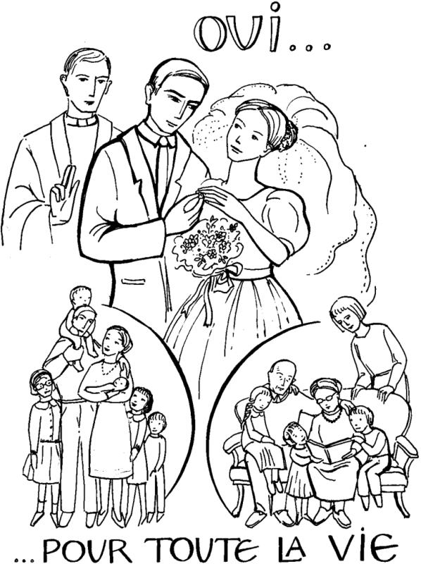Coloriage Sacrement du Mariage
