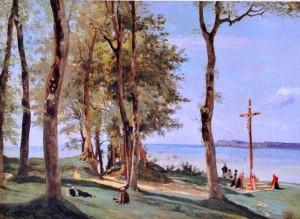Honfleur, Calvaire de la Côte de Grâce - COROT - été 1830