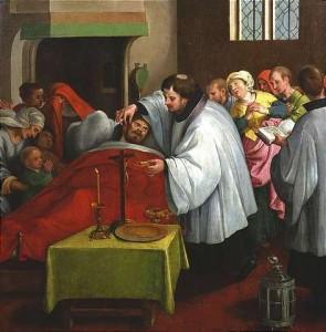 Onctions des malades - Dutch School, vers 1600