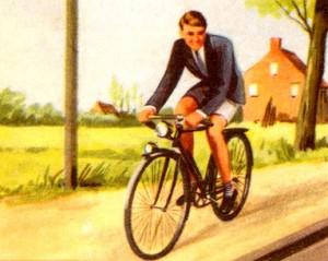 La vocation religieuse expliquée aux enfants - Guy à bicyclette