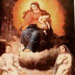 Du bon usage du chapelet - Vierge à l'Enfant qui donne un Rosaire à deux enfants