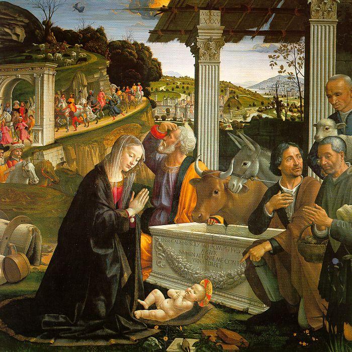 Nativité par Domenico Ghirlandaio (1449 - 1494) - Sainte Trinité Florence