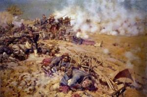 récit héroïque pour les enfants : guerre, bataille, morts et blessés