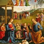 La Nativité de Jésus. Giovanni Di Pietro (Lo Spagna), 1506