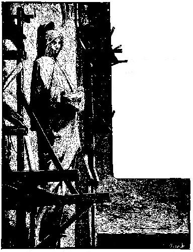 Marie misericordieuse accueille le scuplteur dans ses bras
