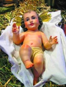 Enfant-Jésus dans la crèche - Espagne