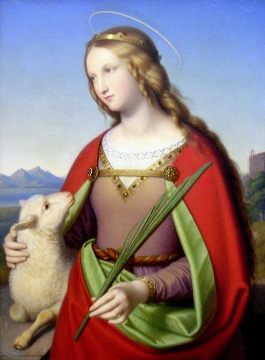 Histoire de Sainte Agnès et l'agneau