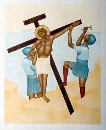 Via Crucis pour les jeunes - Jésus est cloué sur la Croix