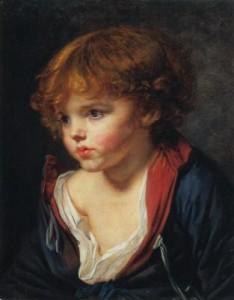 Jean-Baptiste Greuze - Petit garçon blond à la chemise ouverte