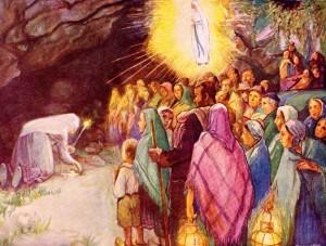La source miraculeuse - Bernadette à Lourdes