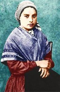 Portrait de Ste Bernadette Soubirous