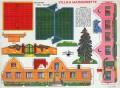 Activités manuelles pour les enfants : découpage Village Maisons
