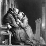 la-confession-sur-la-gravure-de-1870-grave-par-t-w-knight-apres-un-tableau-de-d-wilkie