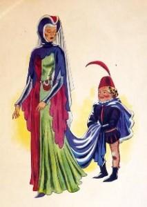 Chatelaine et le page - histoire pour les enfants