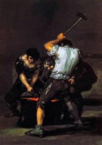 La Forge de Francisco Goya, 1819