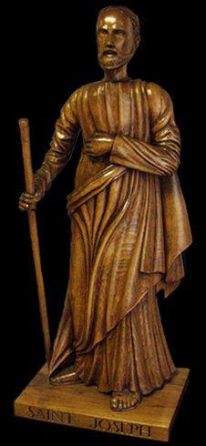 Histoire pour la fête de Saint Joseph -  statue en bois