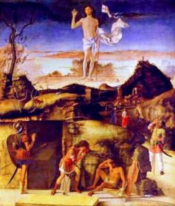 Pâques, Dimanche de la Résurrection - histoire pour le catéchisme - Giovanni Bellini. La Resurrection, 1475-79.
