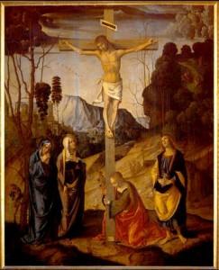 Récit de la mort et de la résurrection pour les enfants - Marco Palmezzano, Crucifixion