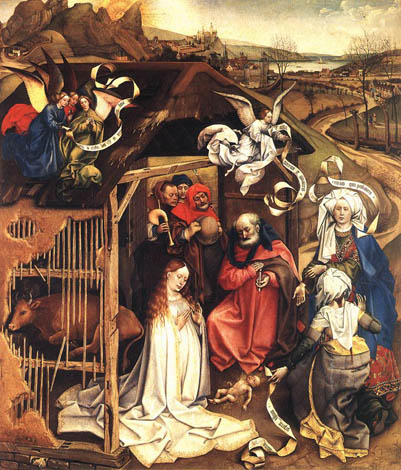 Nativité - Robert Campin , 1420