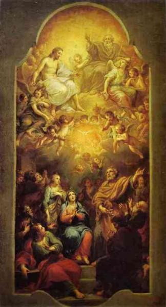 Saint Marc et la Pentecôte - Anton Raphael Mengs. Pentecôte. c.1765.