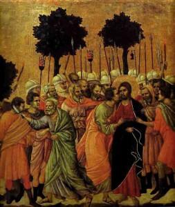Duccio di Buoninsegna. L'Arrestation de Jésus. Maestà, 1308-1311, Sienne