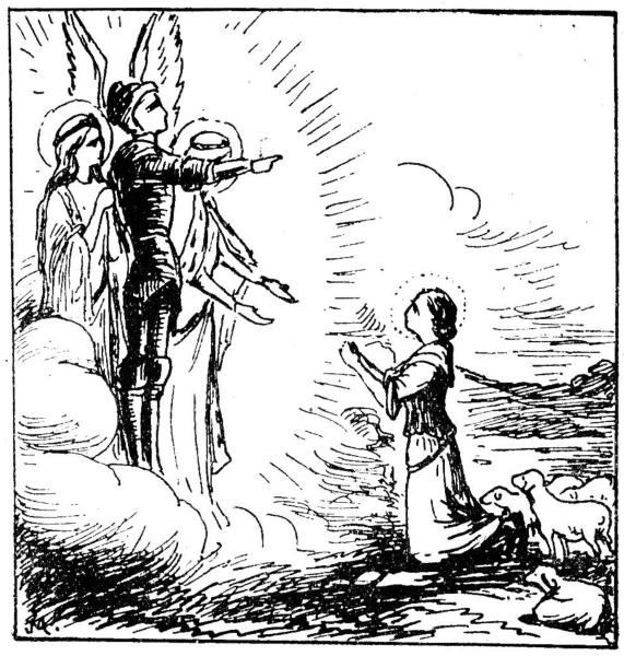 Les voix de Sainte Jeanne d'Arc. histoire de sa vie pour les enfants.